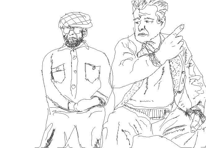 men sketch